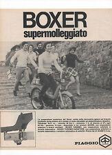 Pubblicità 1970 MOTO MOTOR BOXER PIAGGIO advertising werbung publicitè reklame