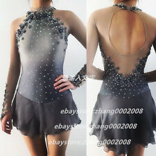 Ice skating dress.Grey Competition Figure Skating /Baton Twirling Costume