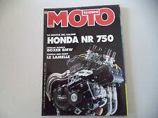 MOTO TECNICA 11/1991 HONDA NR 750/MOTORE BMW BOXER/KAWASAKI ZXR 750/NSU 250 MAX