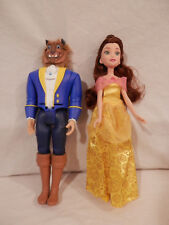 Disney Hasbro Beauty & the Beast - Prince doll & Belle doll plays song 11.5""