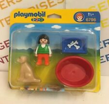 Playmobil 1.2.3. 6796 Girl with Dog NEW Packaging Untidy