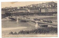 lyon ,   pont morand , quai st-clair et coteau de la croix-rousse -