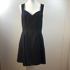 Vtg 90s Bari Jay Black Strappy Prom Party Formal Dress Size 13-14 USA Made E12