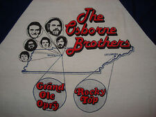 Vintage 80s OSBORNE BROTHERS CONCERT JERSEY T SHIRT Blue Grass GRAND OLE OPRY M
