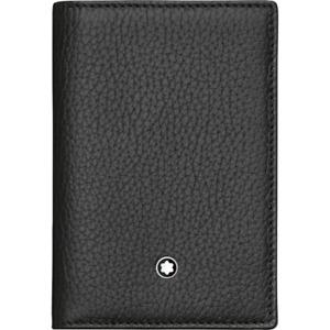 MONTBLANC Meisterstuck Black Soft Grain Business Card Holder Wallet 113011