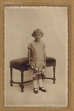 Carte Photo vintage card RPPC De Geyter Anvers enfant fille coiffure kh0343