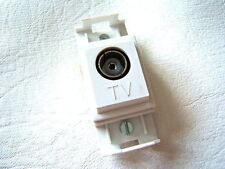 MEM DELTA REF. 8071 SINGLE TV CO-AXIAL OUTLET GRIDSWITCH TYPE SOCKET PLUG AERIAL