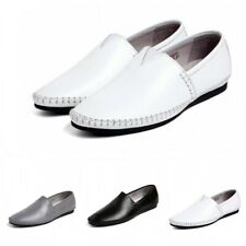 Mens Spring Leisure Soft Real Leather Slip On Loafers Driving Moccasins Shoes 19