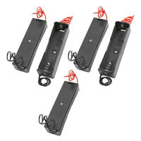 5PCS Plastic Battery Case Holder Storage Box for 18650 Batteries 3.7V Black