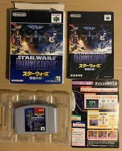 Star Wars Shadow of the Empire Nintendo 64 Japan N64 Complete