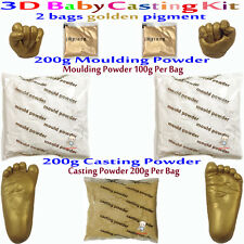3D Casting Kit Creates up to four Castings.Suitable for infants 0-6mths Gold