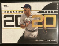 2020 Topps Decade's Next DN-18 Rafael Devers Boston Red Sox