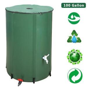 100 Gallon Rain Barrel Folding Portable Water Collection Outdoor Collector Patio
