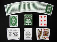 The Crown deck (Green) 1st edition - playing cards by the blue crown company