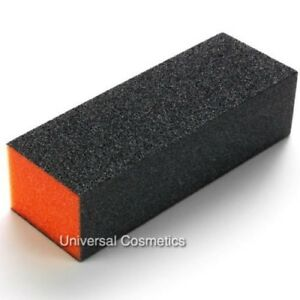 The Edge Buffer Orange Sanding Block 100/180 3-Sided Nail File