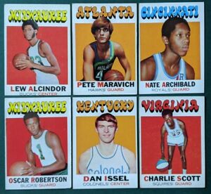 1971-72 Topps Basketball - Complete Your Set / Pick One #1-#234 ; HOF RC