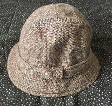 Country Gentleman Bucket Hat Band Wool Sz Medium Pale Brown