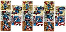MARVEL Avengers CAPTAIN AMERICA 15 Large Stickers!