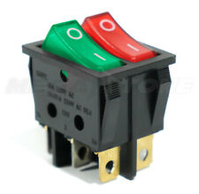 Dual Spst Rocker Switch Redgreen Neon Lamp On Off Kcd2 16a250vac Usa Seller