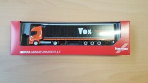 """Herpa 312110 -1/87 Iveco Stralis Np Lowline """" Vos Logistics """" - Neuf"""