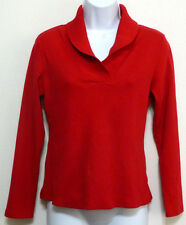 Rafaella Ladies Lucious Cherry Red Cotton Collared Sweater Shirt - Sz S (4-6)