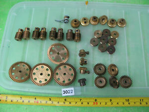 vintage meccano brass gears mixed lot bevel sets etc construction toy 3022