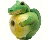 Songbird Essentials Hand-Painted Cute Alligator Gord-o BirdHouse SE3880095