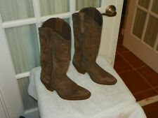 Durango Crush Chocolate Leather Cowgirl Western Boots DCRD182 Women's size 6 M