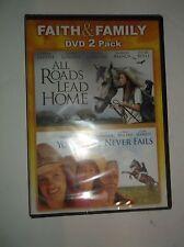 Faith & Family 2-Film Pack: All Roads Lead Home & Your Love Never Fails DVD NEW
