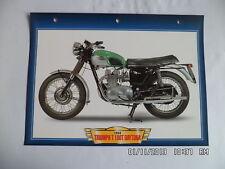 CARTE FICHE MOTO TRIUMPH T 100 T DAYTONA 1969