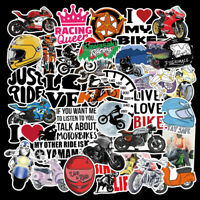 50Pcs Vinyl Motorcycle Stickers Bomb Laptop Luggage Skateboard Bike Decals Pack