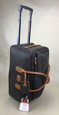 Bric's Luggage Life 21 Inch Carry On Rolling Duffle, Olive/Tobacco BLF05220 $675
