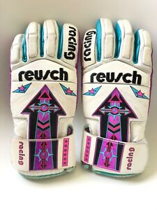 Vintage Reusch Model II Germany Racing Ski Gloves Size 8 Good Condition