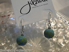 NEW JILZARA Premium Clay Beads EMERALD GREEN Medium 12mm Earrings