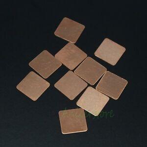 10pcs 15mm x15mm x1.5mm Copper Pad Shim For Laptop Notebook GPU Chipset VGA