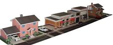 1:87 3D Paper Model City Buildings in PDF Files: House, Gas Station, Shop Store
