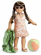 NEW American Girl Molly's 1944 SWIMSUIT for DOLL complete Towel Ball Glasses NEW