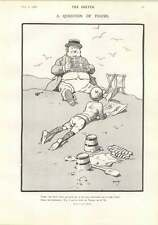 1906 John Hassall Cartoon The Question Of Figure And Reading Comfortably