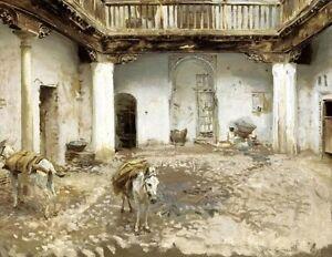 "John Singer Sargent, ""Moorish Courtyard"", open edition digital print"