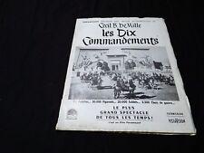 LES DIX COMMANDEMENTS charlton heston dossier presse cinema 1956