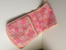 Vintage Oven Glove Bright Pink Floral Dbl Oven Glove Fab For Styling!