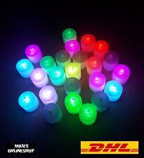 ☆ 24er LED Kerzen Set Bunt 7 Farben Flammen los Neu ☆