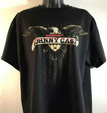 Vintage Johnny Cash Eagle T Shirt Black LARGE