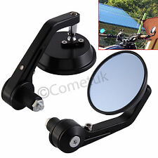 "Pair 7/8"" Universal Motorcycle Bike Motorbike Handle Bar End Rearview Mirror New"
