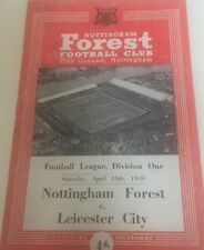 Teams L-N Leicester City First Division Football Programmes