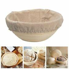 Natural Oval Bread Rattan Basket Banneton Brotform Dough Rising Liner Baskets