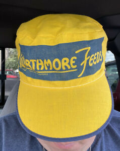Vintage Wirthmore Feeds Painters Trucker Ball Hat Cap 7 1/2 Fitted 70s 80s ~ NOS