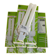 10 x 13 Watt Compact Fluorescent lamps 2 Pin daylight colour 6500k GE long Last