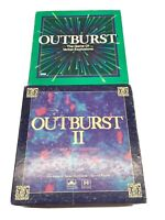 Lot set of 2 Outburst I and II The Game Of Verbal Explosion 1994 Parker Brothers