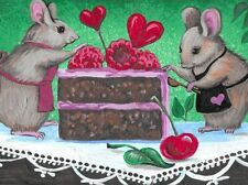 1.5x2 DOLLHOUSE MINIATURE PRINT OF PAINTING RYTA 1:12 SCALE MOUSE VALENTINES DAY